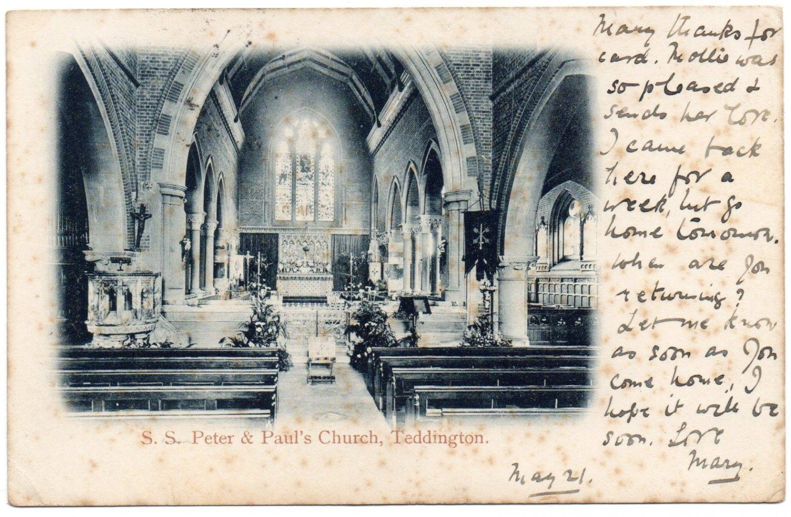 Figure 4 Interior of SS Peter & Paul's Church, c.1904
